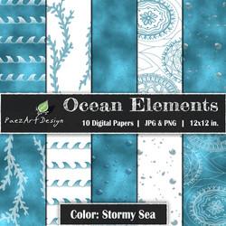 Ocean Elements: Stormy Sea {PaezArtDesign}