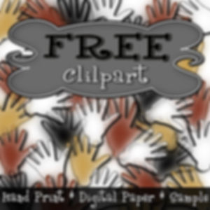 Prehistoric Digital Paper Free Sample {PaezArtDesign}