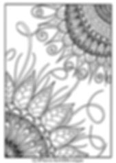 PaezArtDesign Hummingbird Flower Coloring Page. Sample. Digital Art
