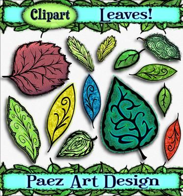 Leaf Clip Art {PaezArtDesign}