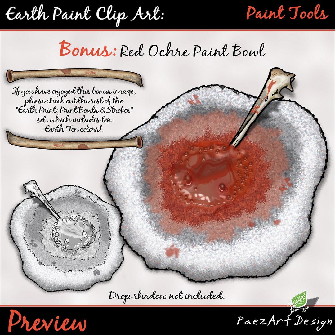 Earth Paint Clip Art_ Red Ochre Paint BoEarth Paint Clip Art: Paint Tools {PaezArtDesign}