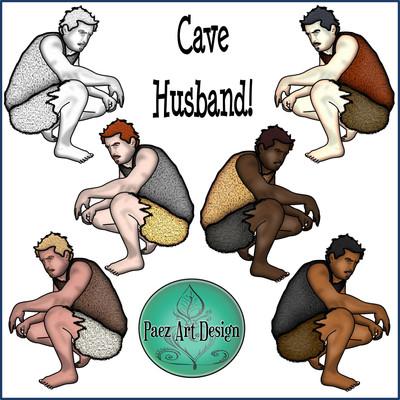 Prehistoric Era People Clip Art {PaezArtDesign}