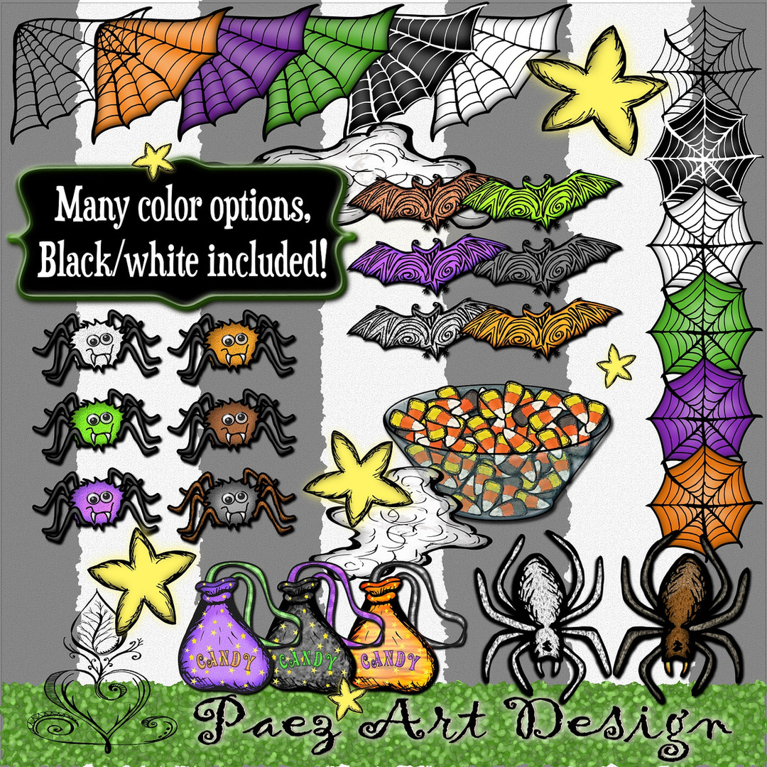 Halloween Clip Art {PaezArtDesign}