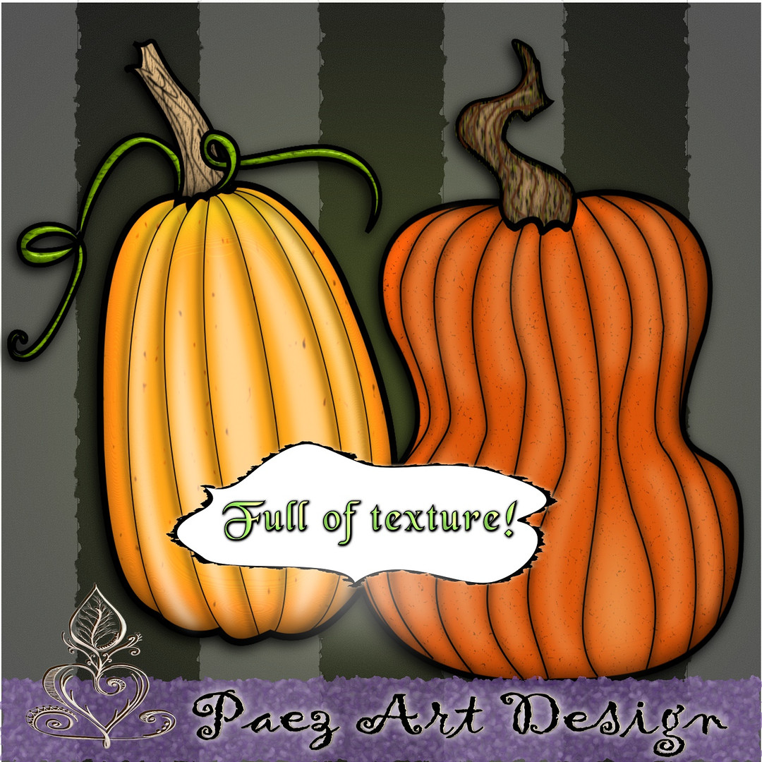 Pumpkins Clip Art {PaezArtDesign}