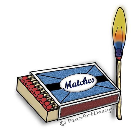 Fire Clip Art Images | Science Graphics | Educational | Ignition, Matches, Matchbox, Flame | PaezArtDesign Digital Art