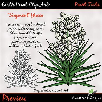 Earth Paint Clip Art_ Emulsifier Yucca PEarth Paint Clip Art: Paint Tools {PaezArtDesign}