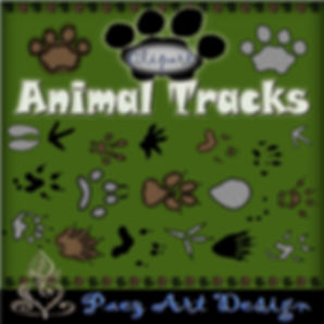 Animal Tracks Clip Art {PaezArtDesign}
