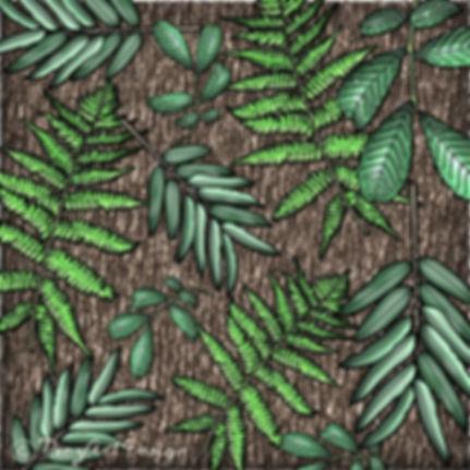 Prehistoric Era Clip Art Images | Digital Papers & Backgrounds: Bark & Vegetation, Ferns, Plants | History & Science Graphics | PaezArtDesign Digital Art