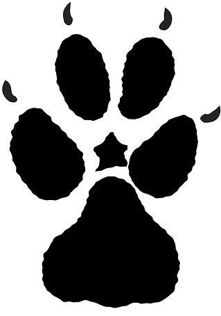 Animal Tracks Clip Art {PaezArtDesign} Wolf Track