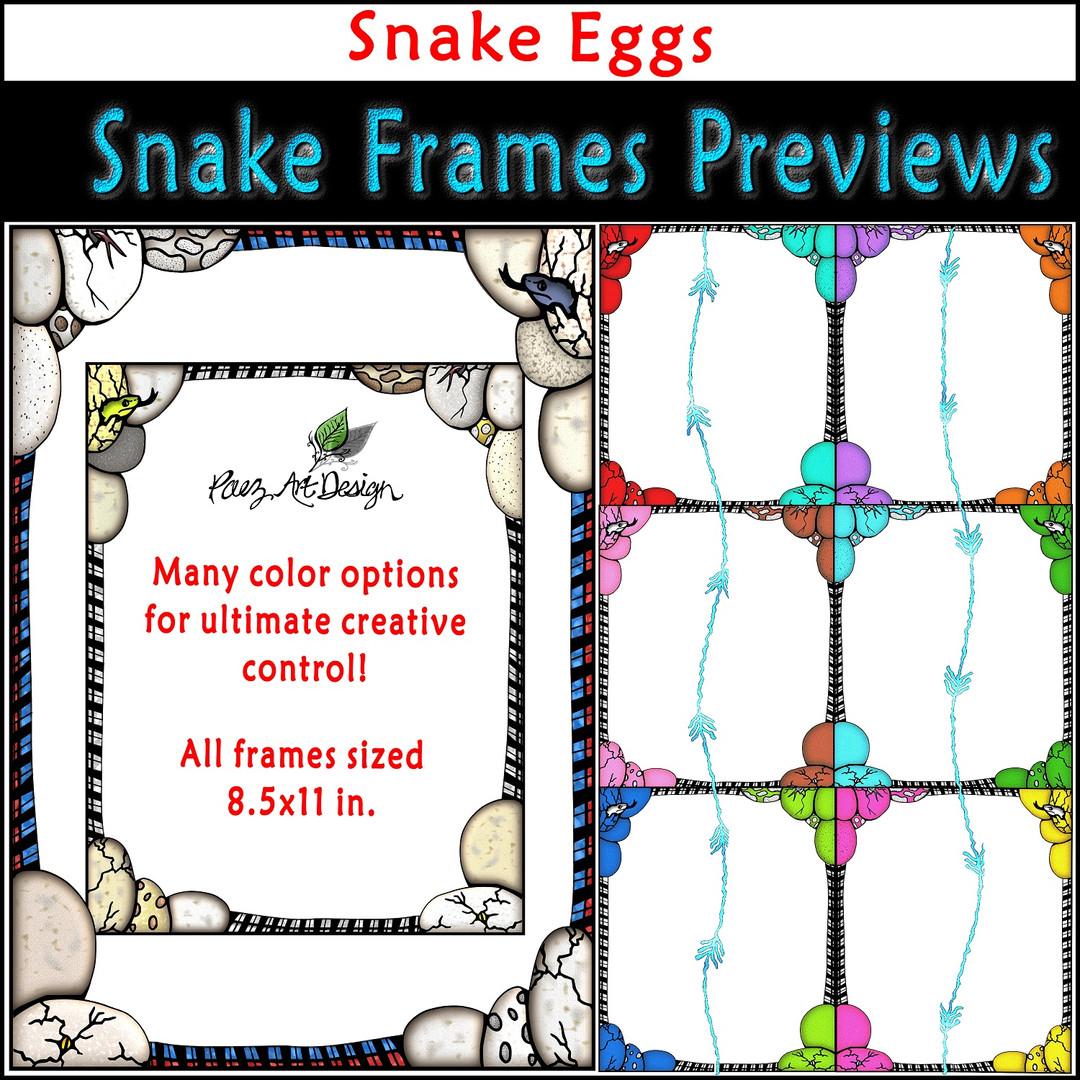 Snake Clip Art Frames: Snake Eggs {PaezArtDesign}