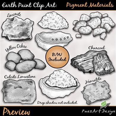Earth Paint Clip Art_ Pigment Materials Earth Paint Clip Art: Pigment Materials {PaezArtDesign}