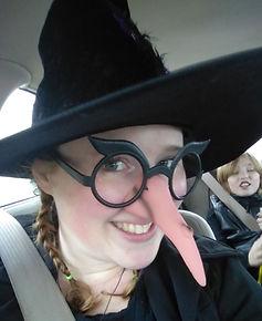 Halloween witch costume | Big Nose | PaezArtDesign Newsletter | Seasonal & Holiday