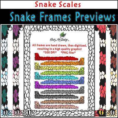 Snake Clip Art Frames: Snake Scales {PaezArtDesign}
