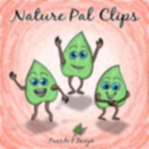Nature Pal Illustrations | PaezArtDesign Clip Art Graphics | DigitalArt | Green Leaf #02