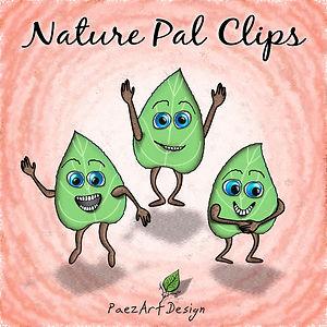 Nature Pal Illustrations | PaezArtDesign Clip Art Graphics | DigitalArt | Green Leaf #02