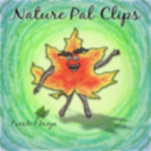 Nature Pal Illustrations | PaezArtDesign Clip Art Graphics | DigitalArt | Male Leaf