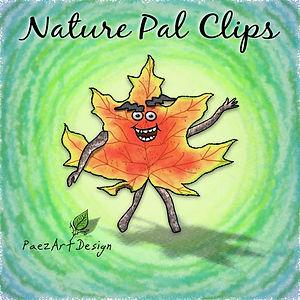 Nature Pal Illustrations | PaezArtDesign Clip Art Graphics | DigitalArt | Male Leaf