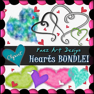 Heart Clip Art BUNDLE {PaezArtDesig}