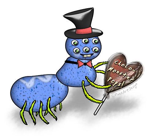 Valentine Monsters Clip Art | Holiday Graphics | PaezArtDesign
