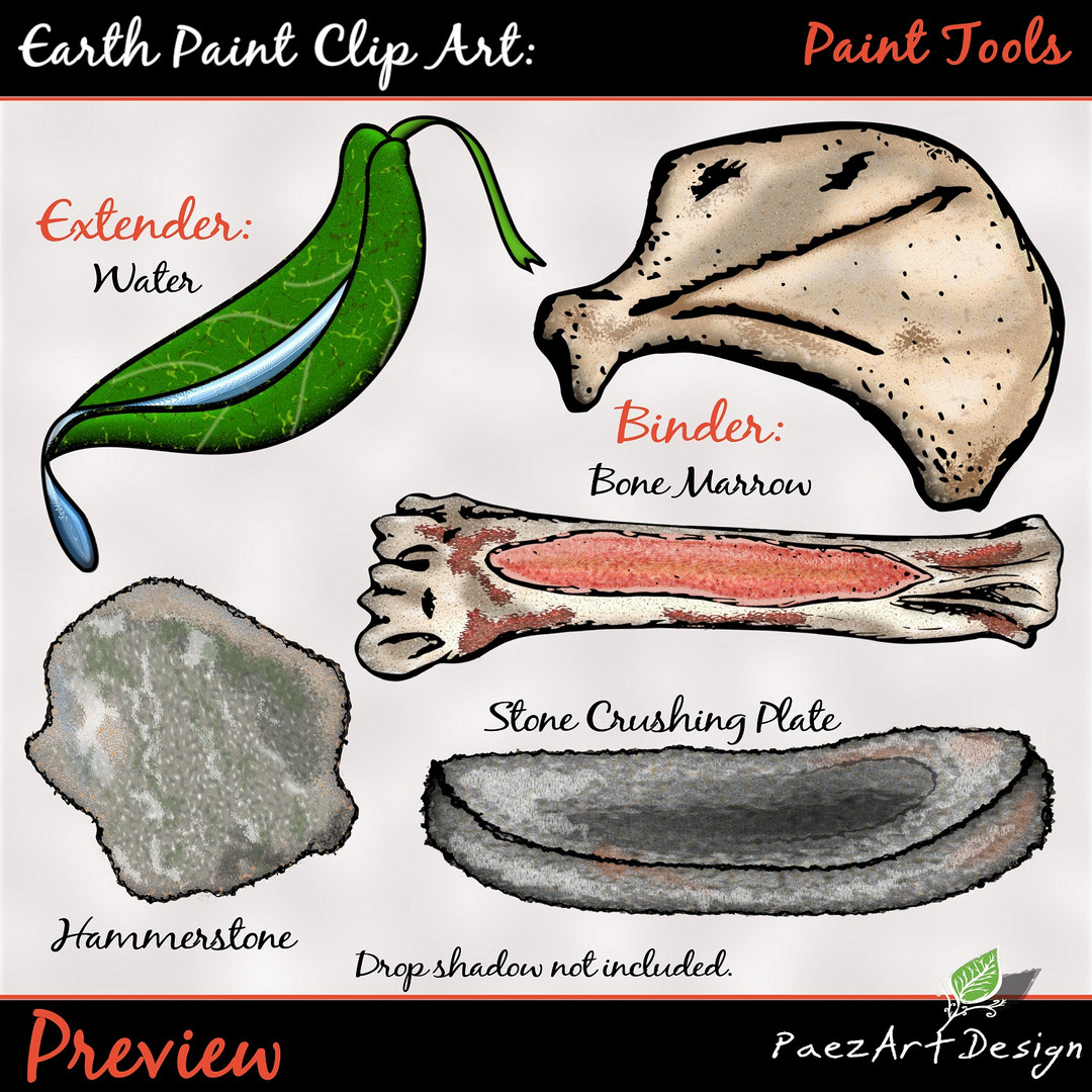 Earth Paint Clip Art_ Paint Tools #1 {PaEarth Paint Clip Art: Paint Tools {PaezArtDesign}
