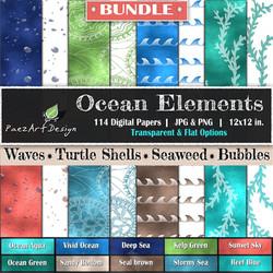 Ocean Elements Bundle {PaezArtDesign}