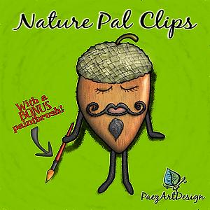 Nature Pal Illustrations | PaezArtDesign Clip Art Graphics | DigitalArt | Acorn