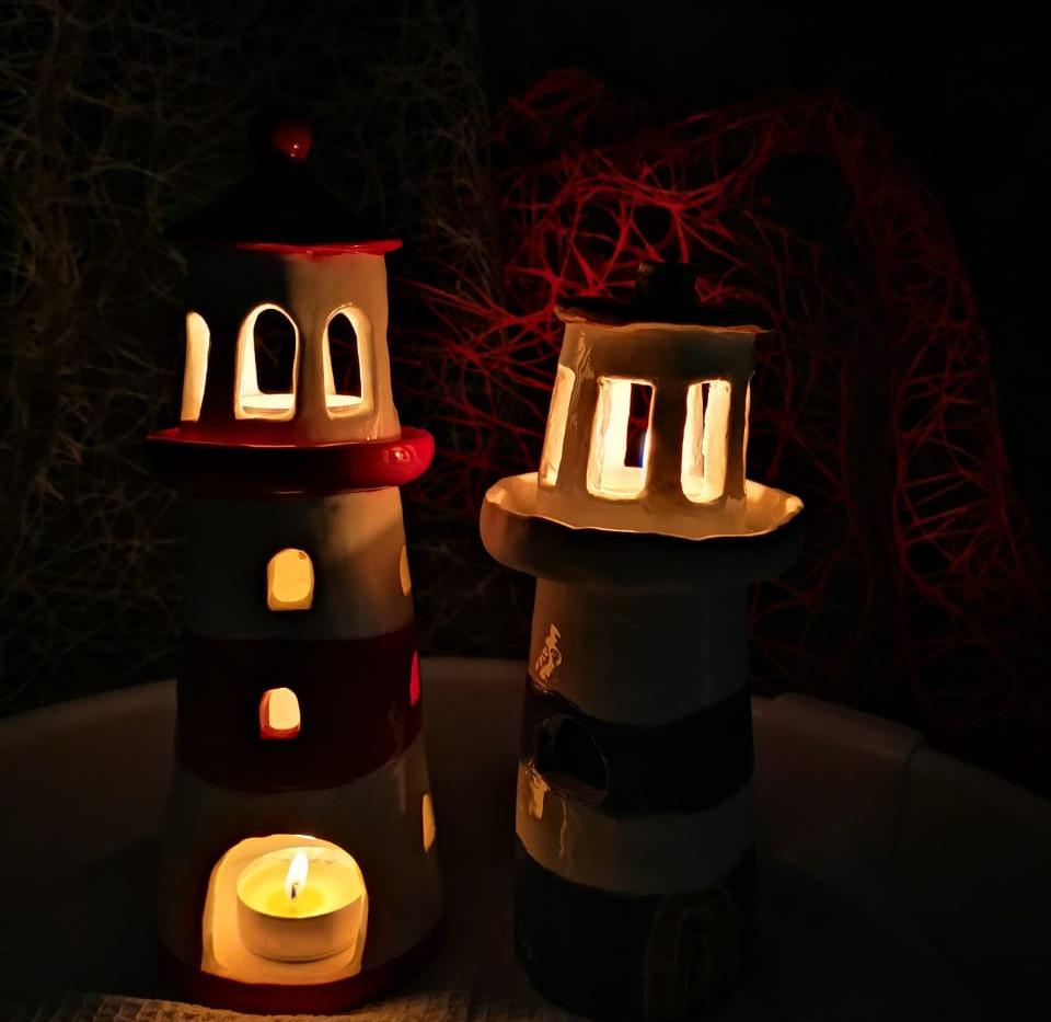 маяк из глины