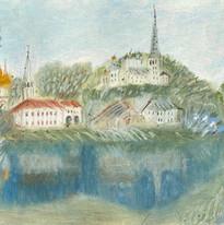 рисунок масляной пастелью