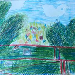 рисунок цветным карандашом