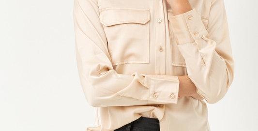 Silky Shirt Top