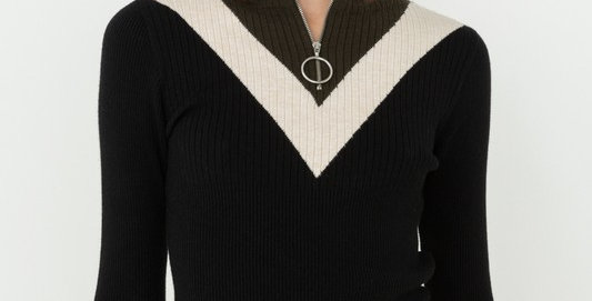Zip Up Mock Neck
