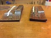 Bruton Guitars, guitar repair, making a new bridge, bridge reset