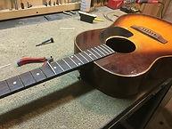 Bruton Guitars, Guitar repair, refret