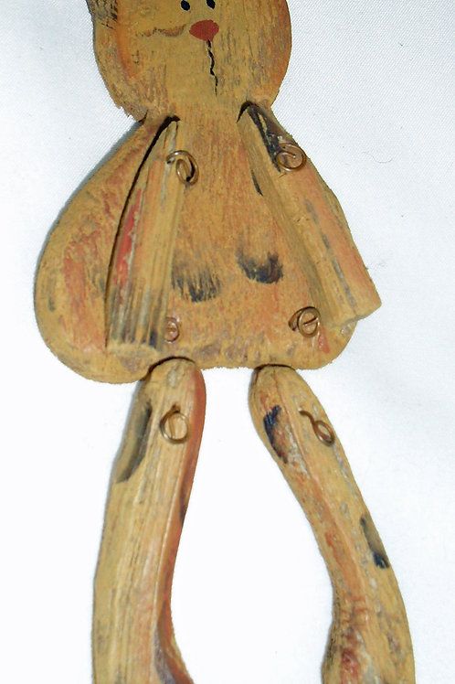 RUSTIC HANGING WOODEN CAT OPTION 1