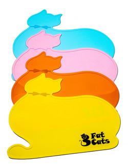 Pet Food Mats by 3 Fat Cats