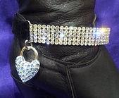 Diamante boot straps (pair)
