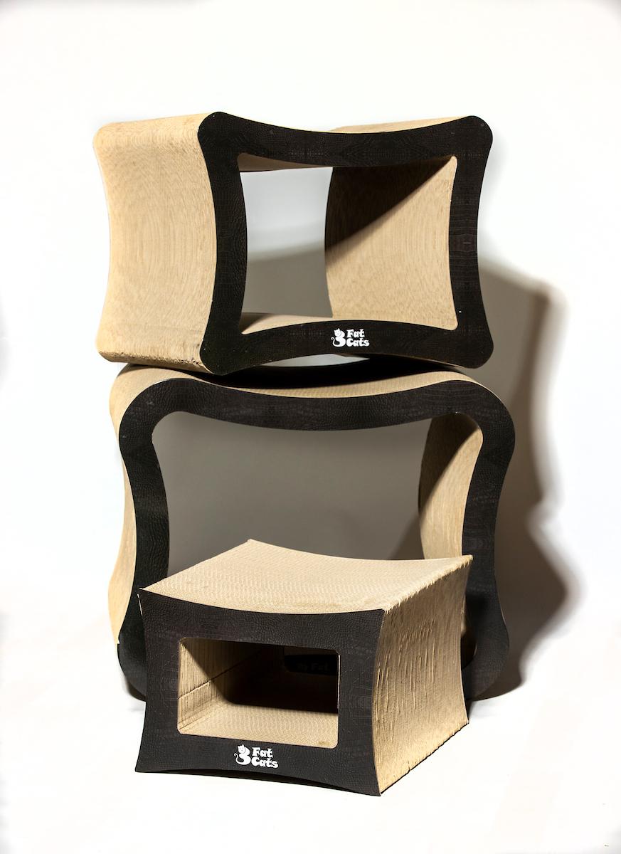 Cat Scratch Furniture | 3 Fat Catss Cubes