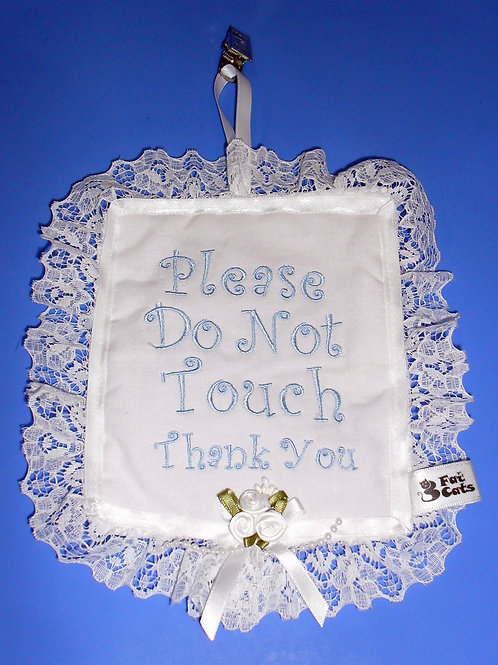 HAND MADE EMBROIDERED MINIATURE PILLOW - BLUE
