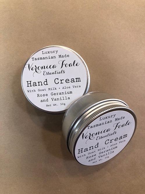 'Veronica Foale' Hand cream - Rose Geranium and Vanilla
