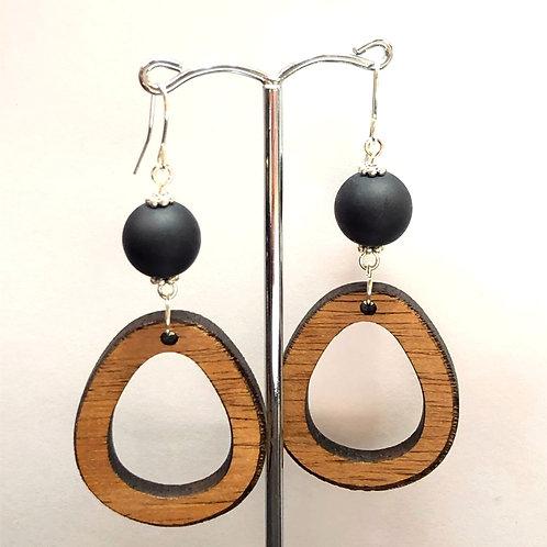 Tasmanian timber drop earrings