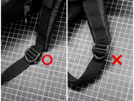 Backpack V2、Daypack V2のテープアジャスター部分における製品不良のお知らせ。