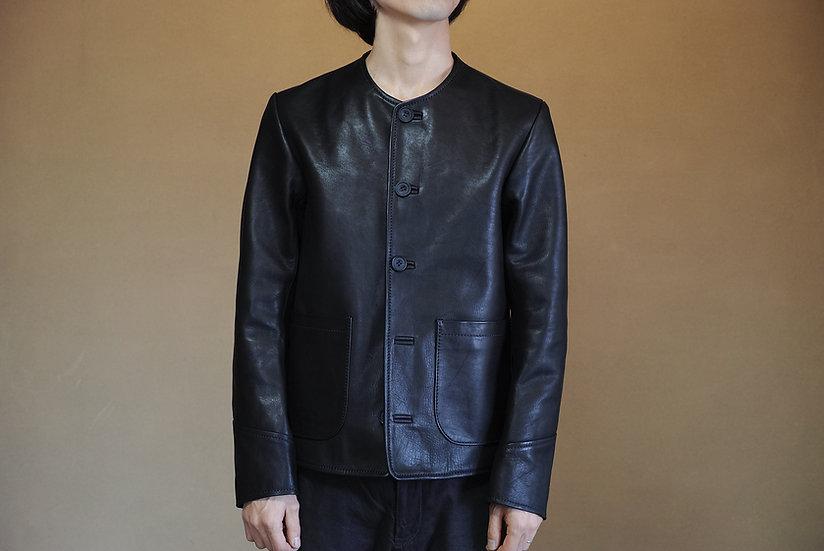 Men's Collarless Button Jacket