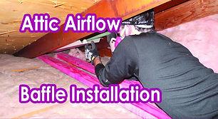 Attic Airflow. Baffle Installation.