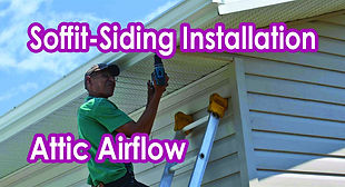 Soffit-Siding Installation. Attic Airflow.