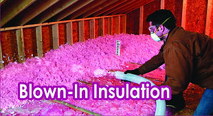 Blown-In Insulation.