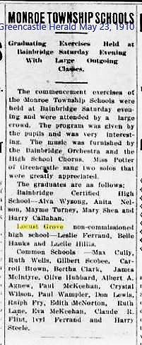 Greencastle Herald 23 May 1910