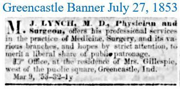 Greencastle Banner July 27 1853