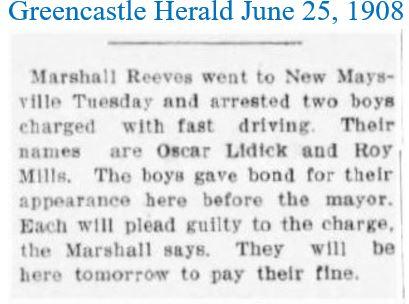 Greencastle Herald June 25 1908 fast dri