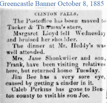 Greencastle Banner Oct 8 1885 Post offic