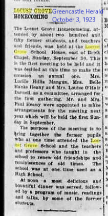 Greencastle Herald 3 Oct 1923